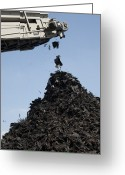 Mound Greeting Cards - Tire Recycling Greeting Card by Photostock-israel