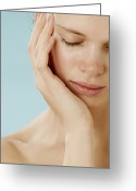 Womanly Greeting Cards - Tiredness Greeting Card by Mauro Fermariello