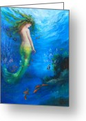 Sea Greeting Cards - To  the Surface Greeting Card by Gail Salituri