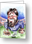 National Drawings Greeting Cards - Tom Brady Greeting Card by Big Mike Roate