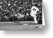 Shea Stadium Greeting Cards - Tom Seaver (1944- ) Greeting Card by Granger