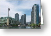 Harbourfront Greeting Cards - Toronto Harbourfront Greeting Card by Oleksiy Maksymenko