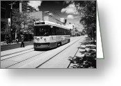 Commission Photo Greeting Cards - Toronto Transit System Ttc Tram Ontario Canada Greeting Card by Joe Fox