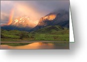 Parks Greeting Cards - Torres Del Paine - Patagonia Greeting Card by Carl Amoth