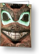 Custom Culture Greeting Cards - Totem pole Greeting Card by John Greim