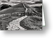 English Countryside Print Greeting Cards - Towards Win Hill Greeting Card by Darren Burroughs