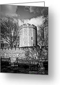 Benches Photo Greeting Cards - Tower of London Greeting Card by Elena Elisseeva