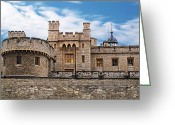 British Royalty Greeting Cards - Tower of London Greeting Card by Jeff Stein