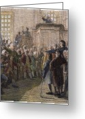 Town Hall Greeting Cards - TOWN MEETING, 18th CENTURY Greeting Card by Granger