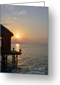 Beach Pictures Greeting Cards - Tranquility II Greeting Card by Corinne Rhode