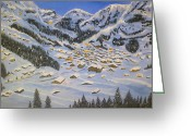 Snowy Night Greeting Cards - Tranquillity Greeting Card by Irina Astley