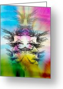 Metamorphosis Drawings Greeting Cards - Transformation Greeting Card by Dan Marquart