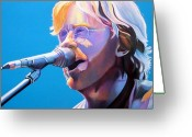 Phish Greeting Cards - Trey Anastasio Greeting Card by Joshua Morton