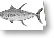 Creative Drawings Greeting Cards - Tribal Ahi Greeting Card by Carol Lynne