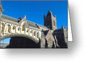 Stained Glass Ireland Greeting Cards - Trinity Church in Dublin Greeting Card by Carl Purcell