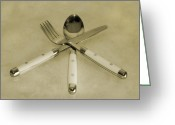 Utensil Greeting Cards - Trio Greeting Card by East Coast Barrier Islands Betsy A Cutler