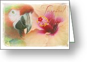Animalia Greeting Cards - Tropical Nights Greeting Card by Sharon Mau
