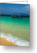 Moored Greeting Cards - Tropical Paradise Greeting Card by Adrian Evans