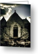 Stone Chimney Greeting Cards - Trulli Greeting Card by Joana Kruse