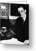 Typewriter Greeting Cards - T.s. Eliot (1888-1965) Greeting Card by Granger