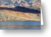 Lakescape Greeting Cards - Tso Moriri Greeting Card by Hitendra Sinkar