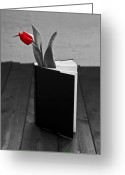 Tulip Greeting Cards - Tulip In A Book Greeting Card by Joana Kruse
