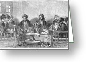 Hookah Greeting Cards - Turkish Coffeehouse Greeting Card by Granger