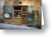 Medeival Greeting Cards - Tuscany Wine shop Greeting Card by Al Hurley