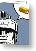 Sentinel Greeting Cards - Twinkie Robot - Xmen Sentinel Greeting Card by Ryan Jones