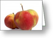 Nourishment Greeting Cards - Two apples. Greeting Card by Bernard Jaubert