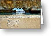 Tourist Pyrography Greeting Cards - Two Rocks WA Greeting Card by Imagevixen Photography