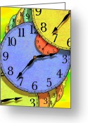 Clock Art Greeting Cards - Two Thirty Seven Greeting Card by Mike McGlothlen