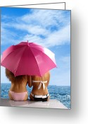 Sunbathing Greeting Cards - Two Women Relaxing on a Shore Greeting Card by Oleksiy Maksymenko