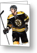 Espn Drawings Greeting Cards - Tyler Seguin Greeting Card by Dave Olsen