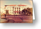 College Campus Greeting Cards - UC Berkeley . Sproul Hall . Sproul Plaza . Occupy UC Berkeley . 7D9994 Greeting Card by Wingsdomain Art and Photography