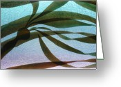 Cities Glass Art Greeting Cards - Under Currents   detail  Greeting Card by Rick Silas