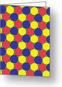 2d Greeting Cards - Uniform Tiling Pattern Greeting Card by