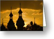 Florida Sunset Greeting Cards - University of Tampa Greeting Card by Patrick  Flynn