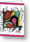 Pen Pastels Greeting Cards - Untitled 5 Greeting Card by Christine Perry