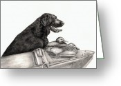 Black Lab Greeting Cards - Untitled Greeting Card by Kathleen Kelly Thompson