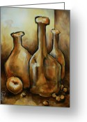 Monotone Painting Greeting Cards - Untitled Greeting Card by Michael Lang