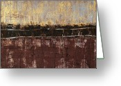 Abstract Expressionism Greeting Cards - Untitled No. 4 Greeting Card by Julie Niemela
