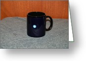 Surrealism Ceramics Greeting Cards - Uranus Custom photo reproduction Coffee mug- Side A Greeting Card by Ryan Demaree