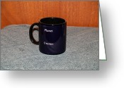 Surrealism Ceramics Greeting Cards - Uranus Custom photo reproduction Coffee mug- Side B Greeting Card by Ryan Demaree