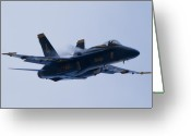 Hornet Greeting Cards - US Navy Blue Angels High Speed Turn Greeting Card by Dustin K Ryan