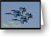 F-18 Greeting Cards - US Navy Blue Angels Poster Greeting Card by Dustin K Ryan