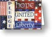 Old Painting Greeting Cards - USA Pride 1 Greeting Card by Debbie DeWitt