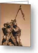 Usmc Greeting Cards - Usmc Greeting Card by JC Findley