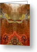 Meditative Greeting Cards - Utopia Greeting Card by Patricia Motley