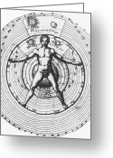 Cosmogony Greeting Cards - Utrisque Cosmi, Title Page, 1617 Greeting Card by Science Source